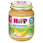 HIPP Био Бебешко пюре/банани/4м+ 125 гр.